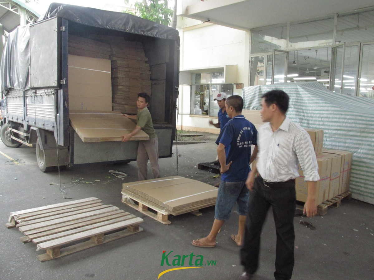 KARTA JSC DELIVERED CARTON BARREL FOR PHONG PHU INDUSTRIAL ZONE