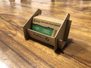khay đựng namecard làm từ giấy tái chế thân thiện môi trường